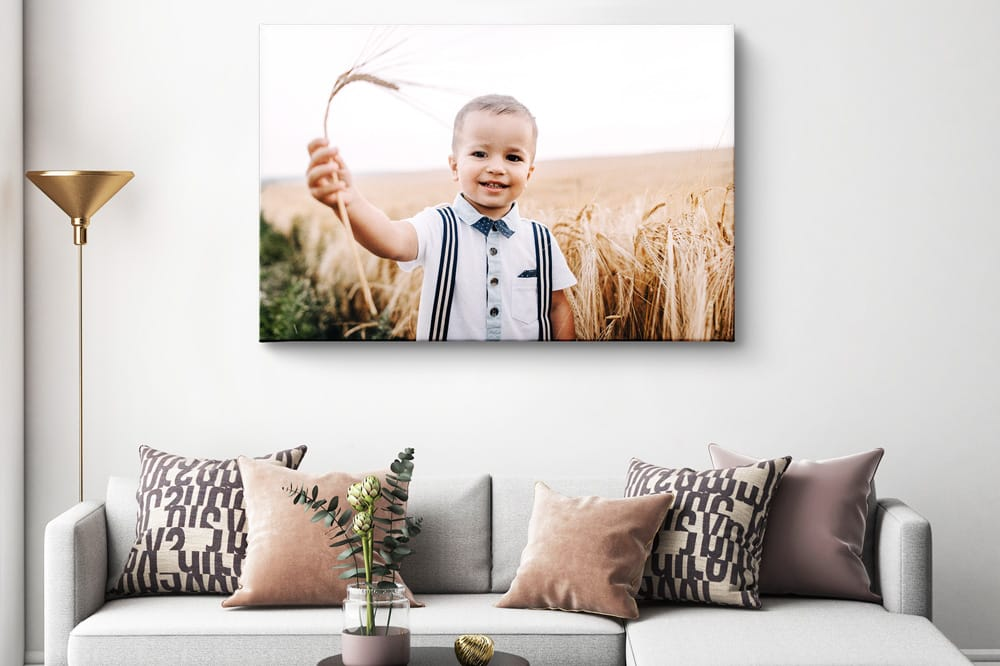 Photo on canvas placed too high