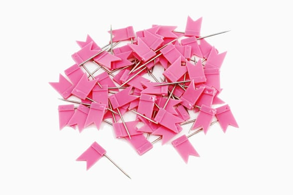60 pink flags