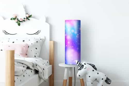 Photo on a lamp in child's bedroom