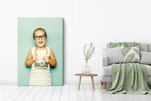 Large photo on canvas