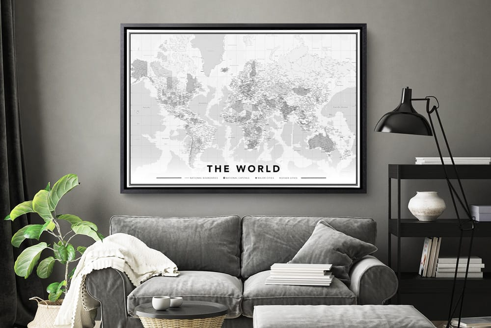 World map printed onto canvas with free pins hellocanvas orderscriptionp gumiabroncs