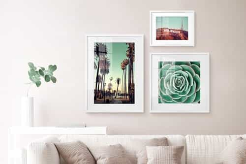 Golden photo frames
