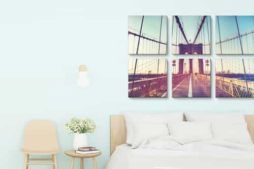Six-panel canvas print