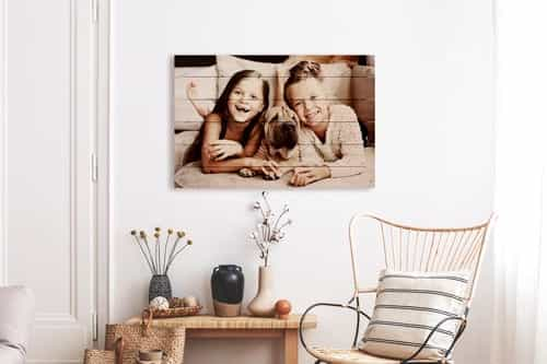 Hanging a photo on wood